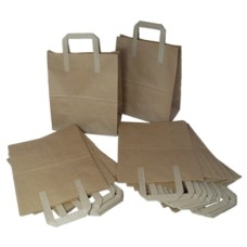 250 x Kraft Paper SOS Takeaway Food Carrier Bags 8