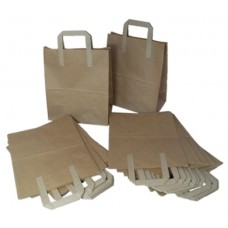 50 x Medium Brown Kraft Paper SOS Takeaway Food Carrier Bags 8