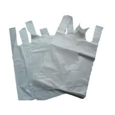 200 x White Plastic Vest Carrier Bags 10x15x18