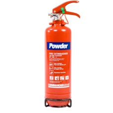 1 x 1kg ABC Dry Powder Fire Extinguisher With Bracket - For Home, Office, Vehicles Etc[5055502313535]