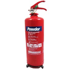 1 x 2kg ABC Dry Powder Fire Extinguisher With Bracket - For House, Car, Boat, Office Etc[5055502336954]