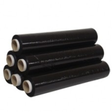 12 x Rolls of Black Pallet Stretch Shrink Wrap 500mm, 25mu[5055502321745]