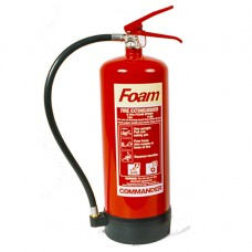 2 x 6 Litre (6L) Foam Fire Extinguishers With Brackets[5055502313580]