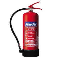 1 x 6kg ABC Dry Powder Fire Extinguisher With Bracket - For Warehouse, Office, Industrial Etc[5055502337012]