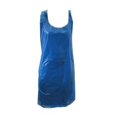 200 x Strong Disposable Blue Kitchen Aprons 27x42