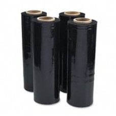 60 x Rolls of Black Pallet Stretch Shrink Wrap 400mm, 17mu[5055502321738]