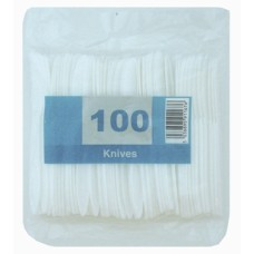 500 x Economy White Disposable Plastic Knives - Light Duty[5056025142398]