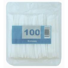 200 x Economy White Disposable Plastic Knives - Light Duty[5056025142381]