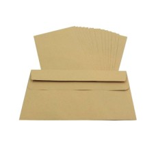 250 x DL Manilla Plain Self Seal Brown Envelopes 110x220mm , 80gsm[5055502354217]