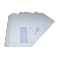 1000 x DL White Window Self Seal Envelopes 110x220mm , 80gsm[5055502390994]