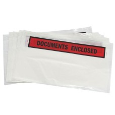 500 x 'DL' Size Printed Document Enclosed Wallets 110mm x 230mm[5055502320595]