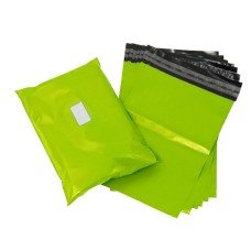 100 x Strong Lime Neon Green Postage Poly Mailing Bags 18