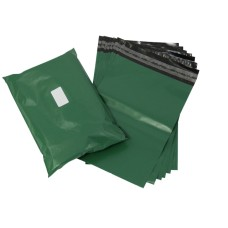 100 x Strong Olive Green Postage Poly Mailing Bags 16