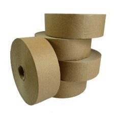 60 x Rolls of Plain Gummed Paper Water Activated Tape 48mm x 200M[5056025171749]