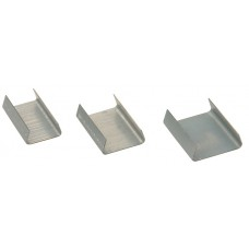 2000 x Snap On Seals For 16mm Steel Pallet Strapping (16mm x 25mm x 0.5mm)