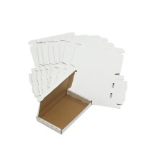 100 x White PIP Royal Mail Large Letter Die-Cut Postal Boxes 166x114x22mm (LLWHT1)[5056025109988]