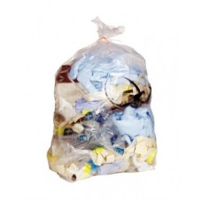 2000 Economy Clear Refuse Sacks, 120 Gauge - 18