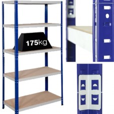 6 x Bays Of Heavy Duty 'Extra Deep' Industrial Warehouse Shelving 1800x900x600mm, 175kg Load Per Shelf (5 Shelves Per Bay)[5056025111370]