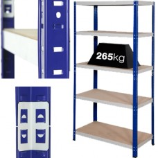 9 x Bays Of Super Heavy Duty 'Extra Wide' Industrial Warehouse Shelving 1800x1200x300mm, 265kg Load Per Shelf (5 Shelves Per Bay)[5056025111660]