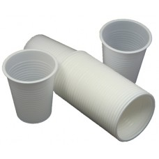 100 x White Disposable Plastic Cups Glasses 7oz (190ml)[5055502319025]