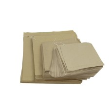 500 x Brown Strung Kraft Paper Fruit Food Bags 318mm x 318mm