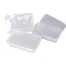 50 X Plastic 500ml Microwave Food Takeway Containers[5055502338231]