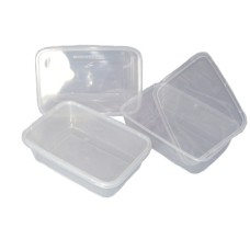 1000 X Plastic 650ml Microwave Food Takeway Containers[5055502338347]