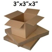 76mm x 76mm x 76mm Single Wall Boxes  (3)