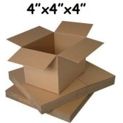 102mm x 102mm x 102mm Single Wall Boxes  (4)