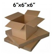 152mm x 152mm x 152mm Single Wall Boxes  (5)