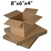 203mm x 152mm x 102mm Single Wall Boxes  (8)