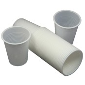 White Disposable Plastic Cups (5)