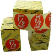 """NOW 1/2 PRICE"" Price Labels (5)"