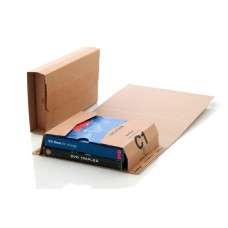 25 x C1 Book Wrap (Bukwrap) Mailer Postal Boxes 216x154x55mm[5055502318547]
