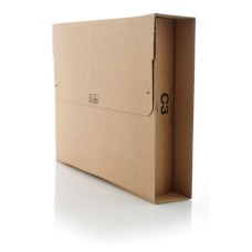 3000 x C3 Book Wrap (Bukwrap) Mailer Postal Boxes 311x240x50mm[5055502333472]