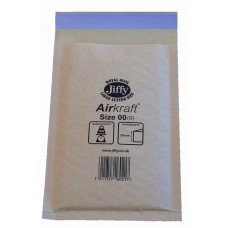200 x Jiffy Airkraft Size 00 (B) Padded Envelopes 115x195mm[5055502314600]