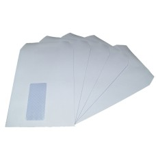 250 x C5/A5 White Window Self Seal Envelopes 229x162mm , 90gsm[5055502390802]