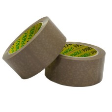 288 x Rolls Of Heavy Duty PRIMA Brown Vinyl Packing Tape 48mm x 66m[5055502322834]