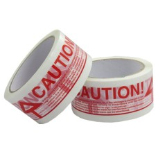 72 x Rolls Of CAUTION Printed Sealing Tape 48mm x 66m[5055502370200]