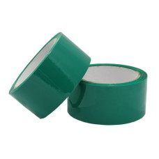 6 Rolls of Green Coloured Packing Tape 50mm x 66m 2