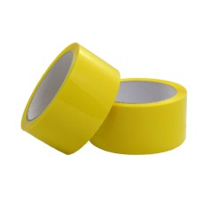 2 Rolls of Yellow Coloured Packing Tape 50mm x 66m[5055502370811]